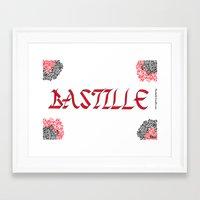 bastille Framed Art Prints featuring bastille by Revital Krispin