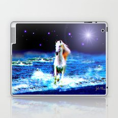 White Horse on the Starry Beach Laptop & iPad Skin