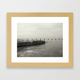 Rocks and Water.  Framed Art Print