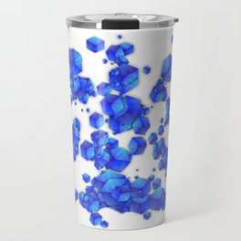 Blue Cubes Travel Mug