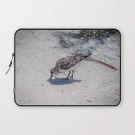 Single Bird on the Beach Laptop Sleeve