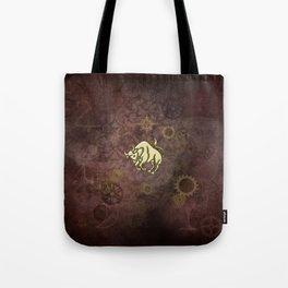 Steampunk Zodiac  Taurus Tote Bag
