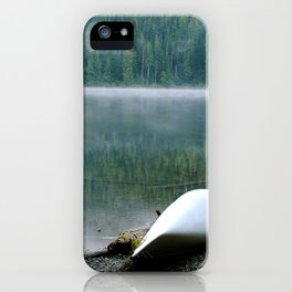 Canoe in the mist iPhone Case