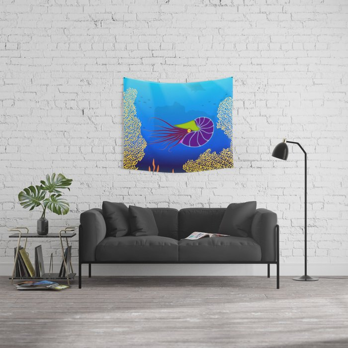 Paper Craft Nautilus Wall Tapestry