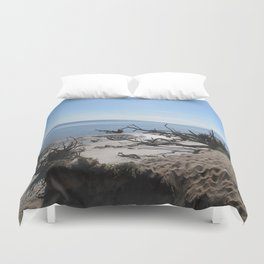 The Boney Trees on the Beach Duvet Cover