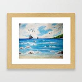 Beach holiday Framed Art Print