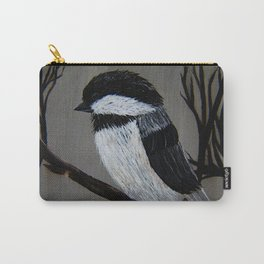 Chickadee on a Tree Branch Carry-All Pouch