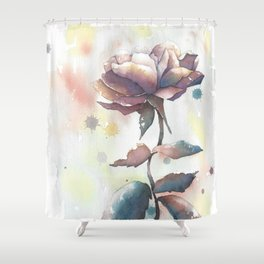 Mourning Rose Shower Curtain