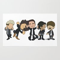1d Area & Throw Rugs featuring Schulz Dancing 1D by Ashley R. Guillory