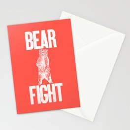 Bear Fight Stationery Cards