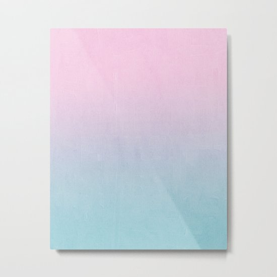 Dream fade pastel tropical chill painting abstract art for minimalist Metal Print