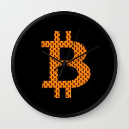 Bitcoin Design For Fans Of The Cryptocurrency Wall Clock