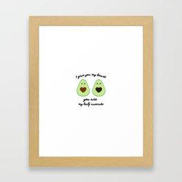 Couple of avocados Framed Art Print