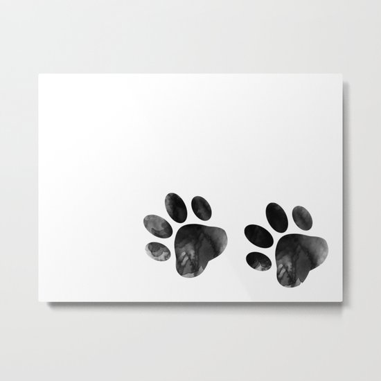 Cat's footprints Metal Print