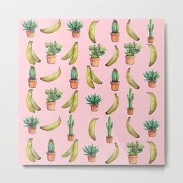 For Her (cactus and Bananas) Metal Print