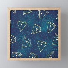 Tetrahedral Molecular Geometry Constellation Art Framed Mini Art Print