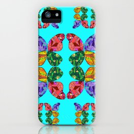 Patchwork Crystal Butterfly iPhone Case
