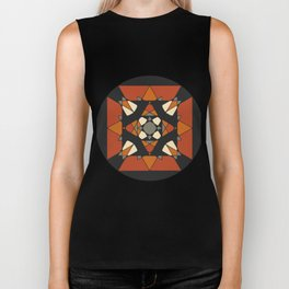Mandala earth colors Biker Tank