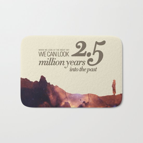 LOOK INTO THE PAST - Andromeda   Space   Time   Stars   Science   Planets   Million   Years   Travel Bath Mat