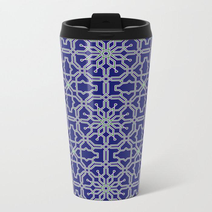 Tiles and geometric patterns Metal Travel Mug