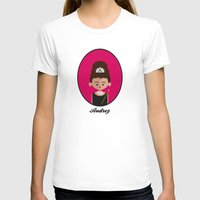 hepburn T-shirts featuring Audrey Hepburn by Juliana Motzko