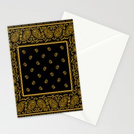 Classic Black and Gold Bandana Stationery Cards