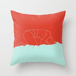 Crouched Throw Pillow