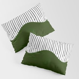 lines and wave (green) Pillow Sham