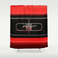 mustang Shower Curtains featuring Mustang by Barbo's Art