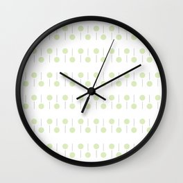 Little trees: leaf green dots and lines Wall Clock