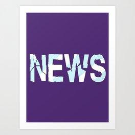 Breaking News Art Print