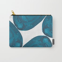 Nikee comma, Abstract, Blue Duck Carry-All Pouch