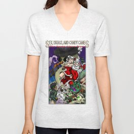 Sex, Drugs, and Candy Canes: The Santa Claus Story Unisex V-Neck