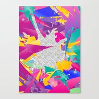 80s Canvas Prints featuring 80s Abstract by Danny Ivan