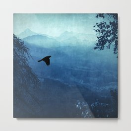 Blue Mountain Haze Metal Print