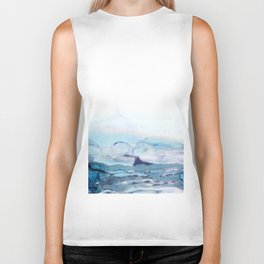Indigo Abstract Painting | No.6 Biker Tank