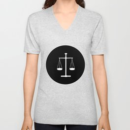 Scales of justice Unisex V-Neck