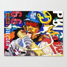 Yasiel Puig Canvas Print