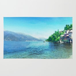 Lago di garda in watercolor Rug