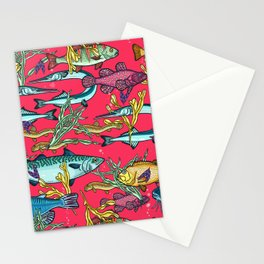 Magical underwater world. Stationery Cards