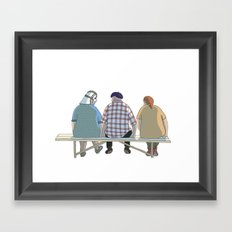 Kind Grandma Framed Art Print
