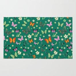 New Watercolour Butterflies XIV (colorful butterflies) Rug