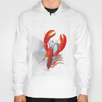 lobster Hoodies featuring Lobster!!!!!!!!!!! by Rococco-LA