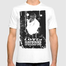 for the love of science MEDIUM Mens Fitted Tee White