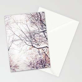 snowy trees in Montreal Stationery Cards