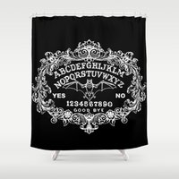 baroque Shower Curtains featuring Baroque Ouija by ShayneoftheDead