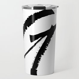 Letter G Ink Monogram Travel Mug