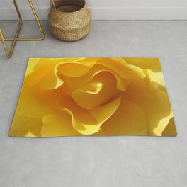 Yellow Rose Ruffles Abstract Rug