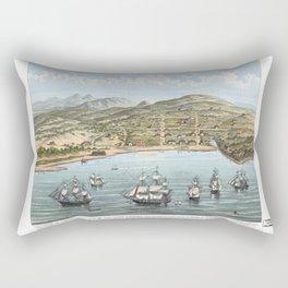 SAN FRANCISCO CALIFORNIA city old map Father Day art print poster Rectangular Pillow