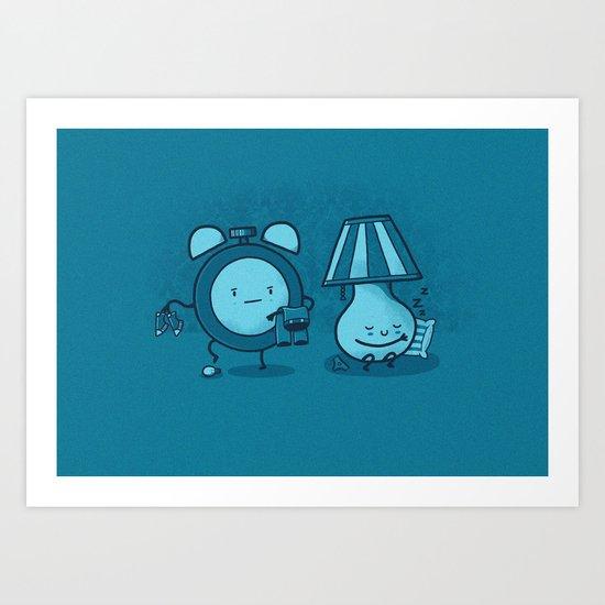 Alarm Sneak Art Print